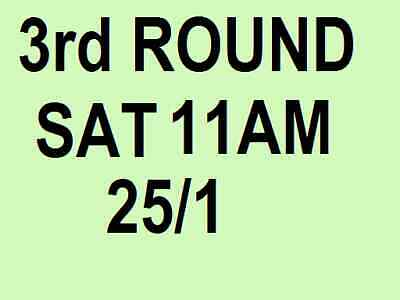 AUSTRALIAN OPEN TICKETS ~ 3rd ROUND ~ SATURDAY 25 JAN 25/1 SAT ~ DAY SESSION