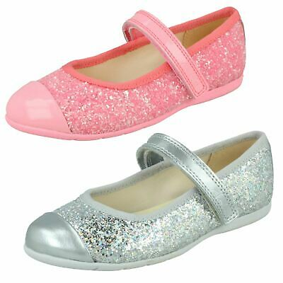 Girls Clarks Dance Tap Hook & Loop Infant Mary Jane Kids Casual Party Shoes Size