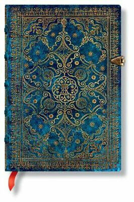 NEW Azure Midi Lined Journal Diary, Journal or Blank Book Free Shipping