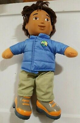 "Nick Jr. Dora the Explorer Diego Stuffed Doll Toy Talking 12"" Fisher-Price 2006"
