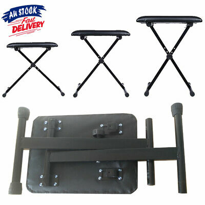 Piano Stool Keyboard Seat Portable Folding Chair 3 Way Bench Black ACB#