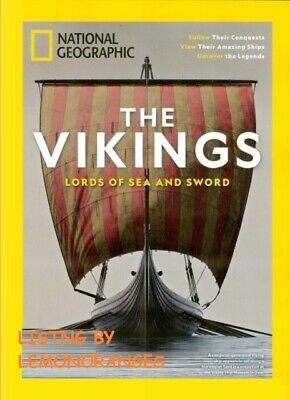 New* National Geographic Special Magazine The Vikings Lords Of The Sea & Sword