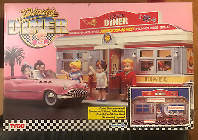 Vintage 1989 TYCO Dixie's Diner Playset New Unopened With Dixie Doll