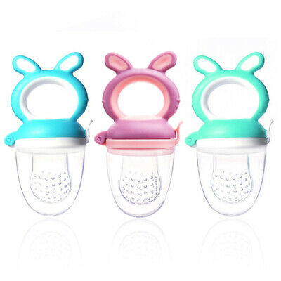 Baby Dummy Feeding Nibbles Weaning Nutrition Pacifier Fresh Fruit Feeder #UK