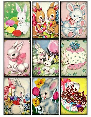 Easter Bunny Activities Glossy Finish Card Making Toppers Embellishment