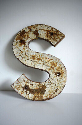 Vintage metal letter S  - Railway Station - retro industrial typography