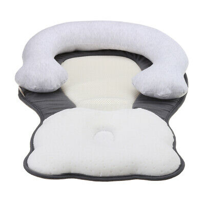 2 in 1 Infant Pillow Newborn Anti Flat Head Syndrome Crib Cot Bed Neck Support