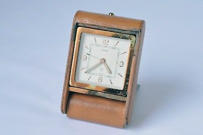 JAEGER LECOULTRE Art Deco Travel Alarm Clock 8 DAY SWISS Excellent Working Order
