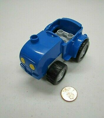 1x Lego Duplo Pendant Plough Blue Farm Tractor Far Car Plow 31032