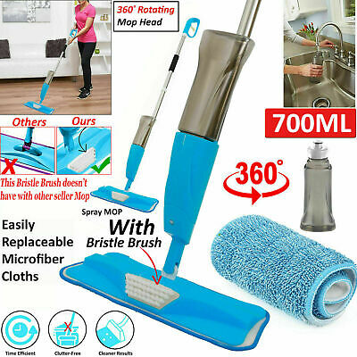 Spray Mop Water Spraying Floor Cleaner Tiles Marble Kitchen 700Ml Micro Fibre