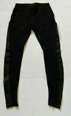 Theory Pants Azray Techno Jersey Stretch Legging Leather Black Size S Small
