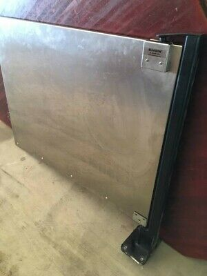 Eliason Stainless Steel Cafe Swing Door with Mounted Base