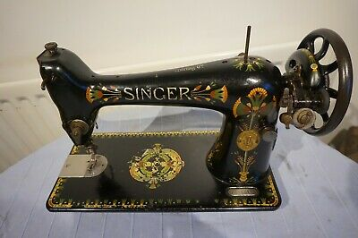 Singer 66-1 Lotus Decals Vintage Sewing Machine