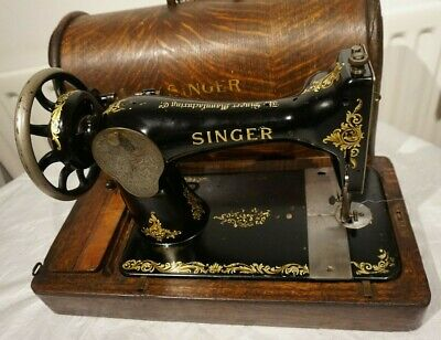Antique 1913 Singer Sewing machine with Rococo decals