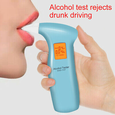 KF_ Portable Police Alcohol Breathalyzer LCD Digital Breath Analyzer Tester De