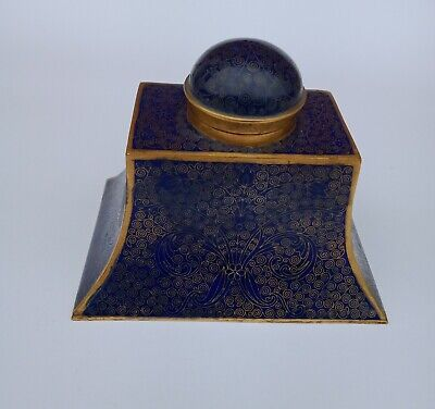 Antique Chinese Cloisonne Inkwell Late Qing