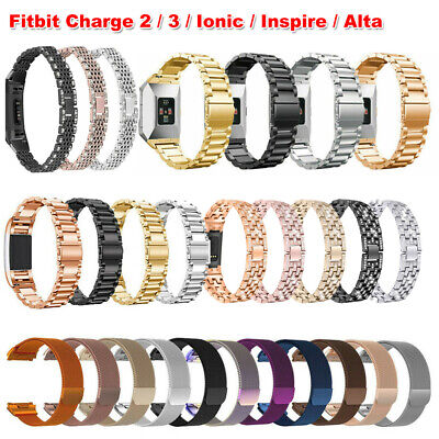 For Fitbit Charge 2 3 Ionic Inspire Alta HR Replacement Metal Watch Band Strap