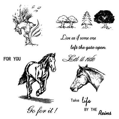 Horse Silicone Clear Stamp Seal DIY Scrapbooking Embossing Photo Album Paper Art