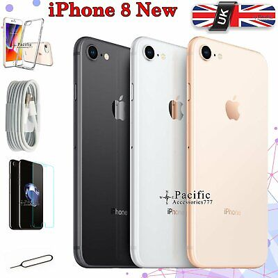 NEW Apple iPhone 8 UNLOCKED - 64 256 GB - All Colours - SIM FREE Smartphone - UK