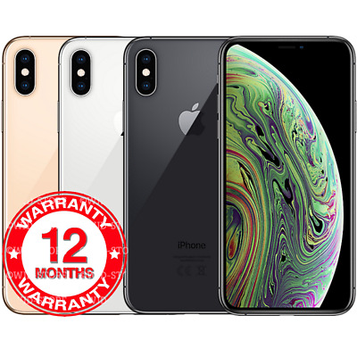 Apple iPhone XS Max - 64GB 256GB 512GB - Unlocked Smartphone All Colours Grades