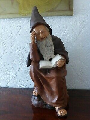 Large Johann Maresch Reading Gnome Circa 1900