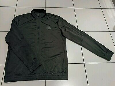 Boys Adidas zip up tracksuit top, 13-14 years black *Excellent condition*