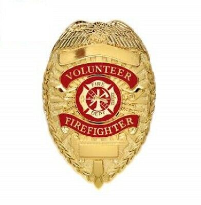 Rothco Gold Plated Deluxe Volunteer Fire Department Badge