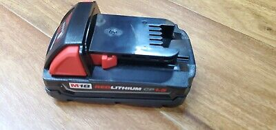 1 New 100% Genuine Milwaukee M18V Red Lithium 1.5Ah Battery Pack 48-11-1815