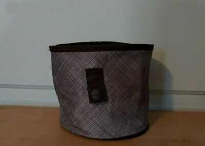 Thirty-one  Oh Snap brown & white snaps on bag. mini round  storage bin/basket