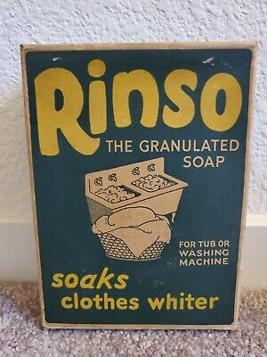 Vintage Rinso The Granulated Soap Unopened Box 50's