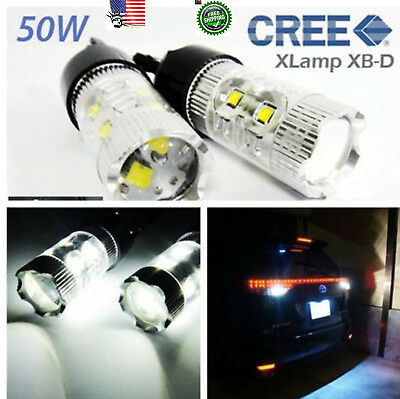 2x CREE XB-D Projector LED Bulb Back Up Light 7440 7443 992 T20 50W FOR RAM