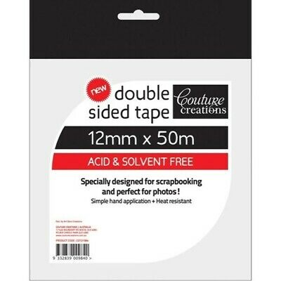 NEW Couture Creations, Double sided tape,12mm x 50m,