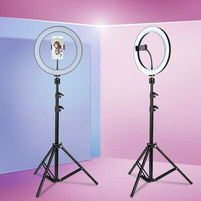 "10"" LED Ring Light Light Stand Kit Dimmable Photo Studio Selfie Phone Live HOT!!"