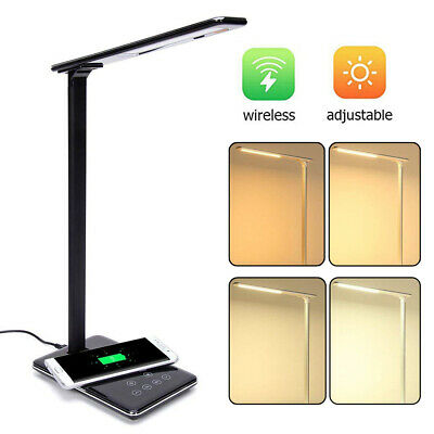 2-in-1 10W QI Fast Wireless Charger Charging Table Desk Lamp For iPhone Samsung