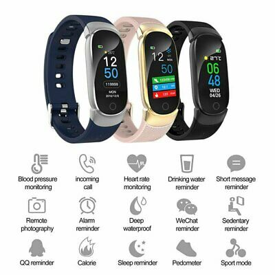 NEW HD Display Bluetooth Smart Watch Blood Pressure Men Women For Android iOS UK