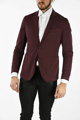 CORNELIANI men Suit Jackets Burgundy Single Breasted Unlined Blazer Size 46 i...