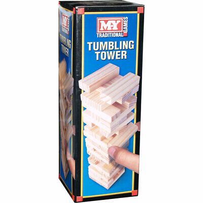 M.Y Traditional Games Tumbling Tower 54 Wooden Pieces
