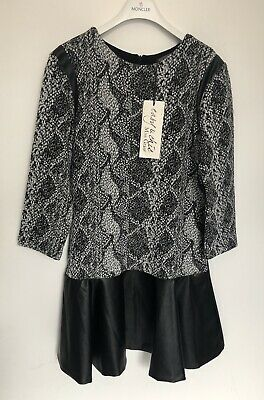 MISS GRANT Girls Black Grey White Dress BNWT RRP £102 Size Aged 12 Years