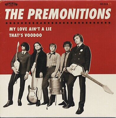 "THE PREMONITIONS My Love Ain't A Lie vinyl 7"" garage punk fuzz beat Night Times"