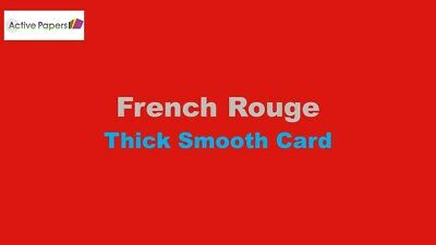 Rouge Thick Card 320gsm  A4 Premium Smooth Grade