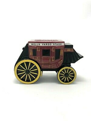 WELLS FARGO Stagecoach Metal Coin Bank Piggy Fast shipping! No Key.