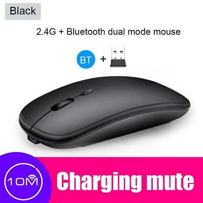 X1 2.4GHz Wireless Rechargeable Mouse 1600DPI 4 Button Ergonomic Optical Mice