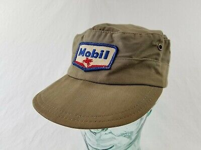 vintage Mobil Oil Service Gas Filling Station Attendant Uniform Unitog Hat 60s