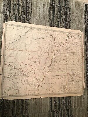North America Parts Of 7 States Published By Baldwin & Cradock 1833