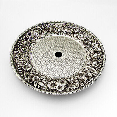 Repousse Butter Cheese Dish Kirk Son Sterling Silver 1880