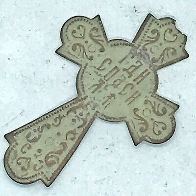Antique 1700-1800's Russian Copper Cross Artifact From Russian Orthodox Church