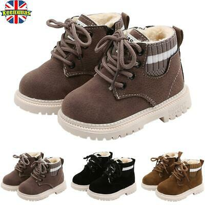 Clearance 40% Off KIDS BOYS GIRLS INFANTS  FUR LINED WARM ANKLE BOOTS SHOES SIZE