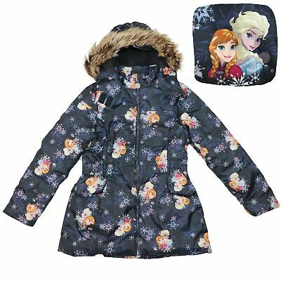 Girls FROZEN DISNEY Winter Jacket Warm Padded Jacket with Hood Age 7-8 years