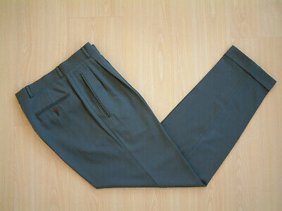 "1940's STYLE TROUSERS..30""..TWIN PLEATS..PERMANENT TURN-UP'S..WOOL..SWING..HOP"