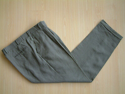 "1940's STYLE TROUSERS..40"". PLEATED..PERMANENT TURN-UP'S..LINEN..TROPICAL..CHAP"